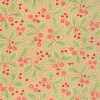 Moda Mimi by Chez Moi - 2719 - Pink Berries and Green Leaves 16094-11 100% Cotton Fabric